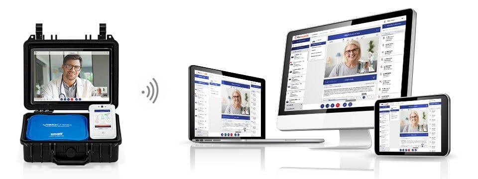 Interface téléconsultation médécin avec mallette BewellConnect