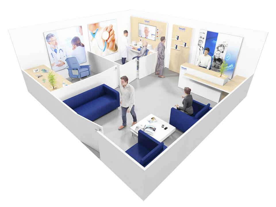 Connected healthcare space